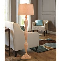 "Catalina Terra 63.5"" 3-Way Distressed Wood Inspired Floor Lamp"