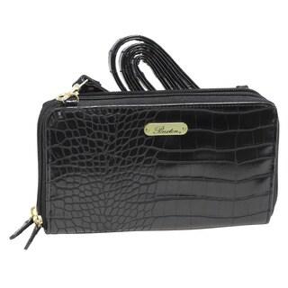 Buxton Nile Exotics Faux Leather Organizer Wallet