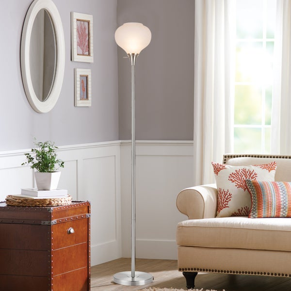 "Catalina Demi 71"" 3-Way 71-Inch Brushed Nickel Metal Floor Lamp"