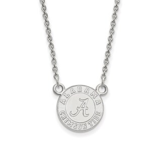 Sterling Silver LogoArt University of Alabama Small Pendant with Necklace