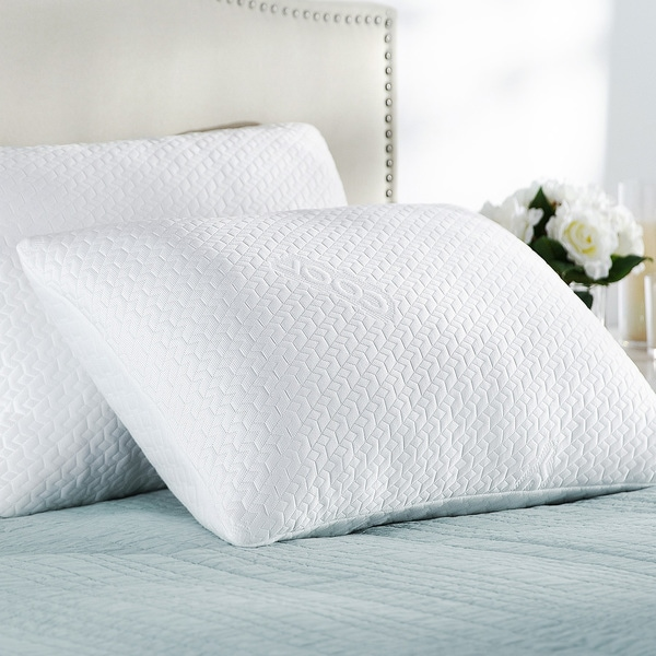 Priage Dual-Sided Cool and Cozy Memory Foam Pillows (Set of 2)