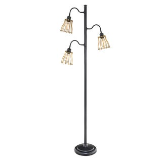 "Catalina Oliver 69"" 3-Way 3-Light Track Tree Floor Lamp"