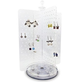Ikee Design Acrylic Rotating Jewelry Display Earring Stand