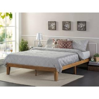 Priage by Zinus Solid Wood Platform Bed, Rustic Pine