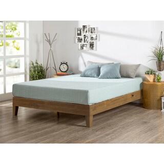 priage rustic oak solid wood deluxe platform bed