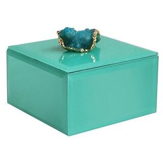 """Agate Peacock Box 4.5 x 4.5 x 2.5"""""""