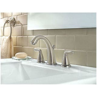 "Pfister Serrano 2-Handle 8"" Widespread Bathroom Faucet. Brushed Nickel (LG49-SR0K)"