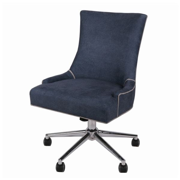 Charlotte Chrome Denim Office Chair. Opens flyout.