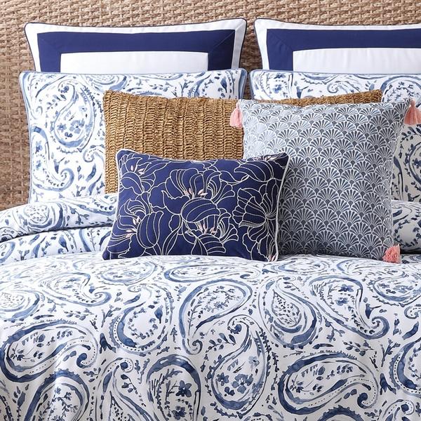 Oceanfront Resort Indienne Paisley Cotton Duvet Cover 3-piece Set