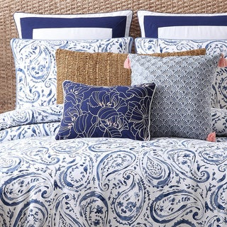 Oceanfront Resort Indienne Paisley Cotton Duvet Cover 3-piece Set