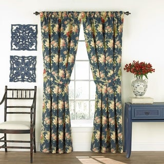 Waverly Sanctuary Rose Floral Curtain Panel Pair - 100x84