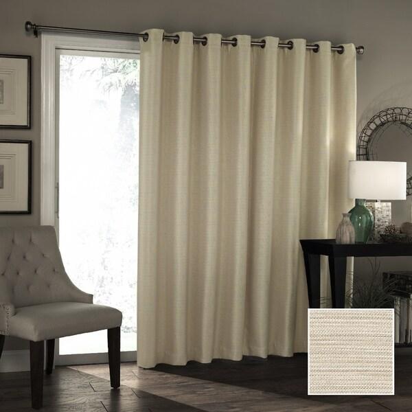 Pair Galleria Room Darkening Grommet Curtain Panels Woven Tonal Stripe Panels