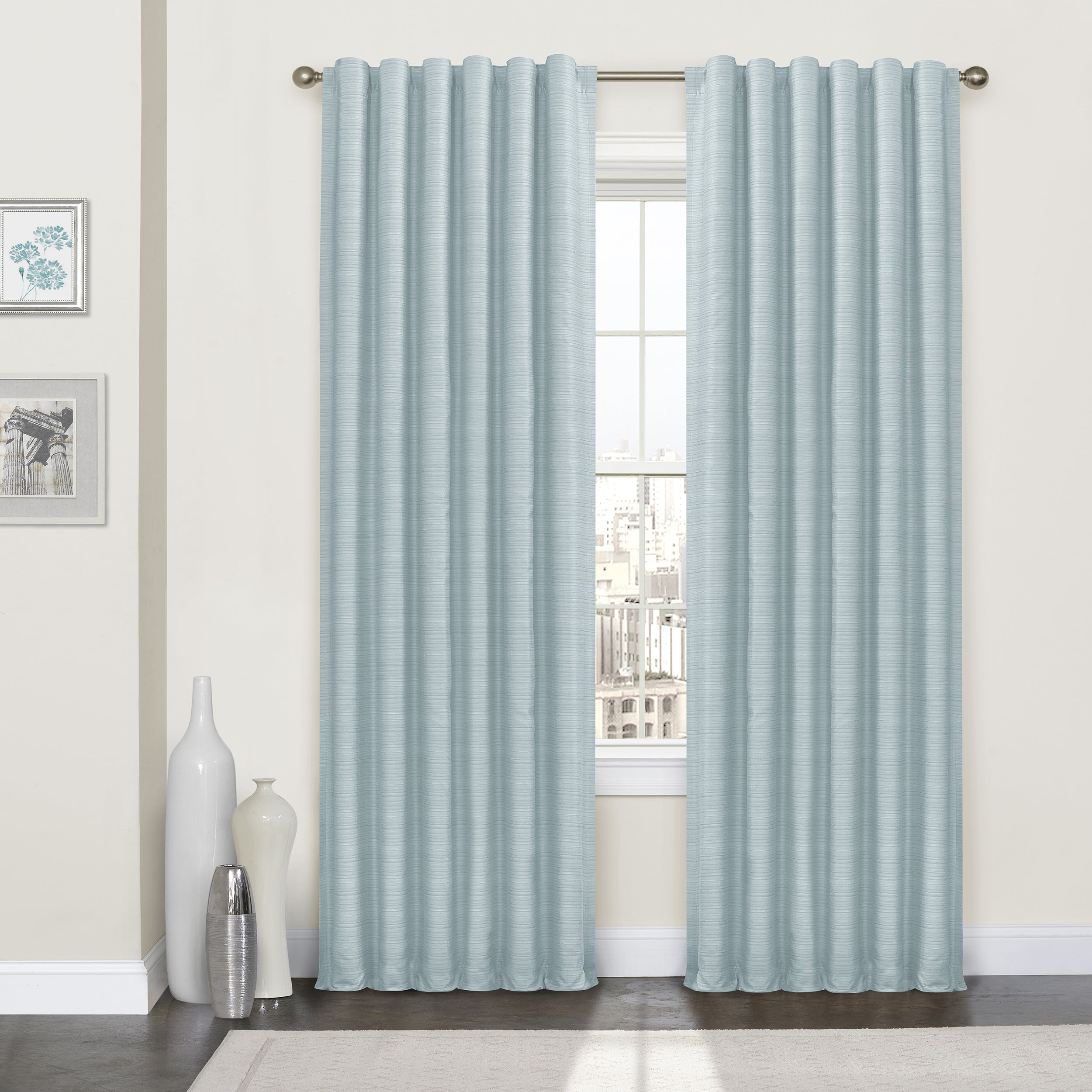 Eclipse Lindstrom Thermalayer Curtain Panel (52X95 - Marb...