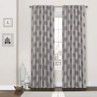 Eclipse Percy Flock Thermaweave Curtain Panel