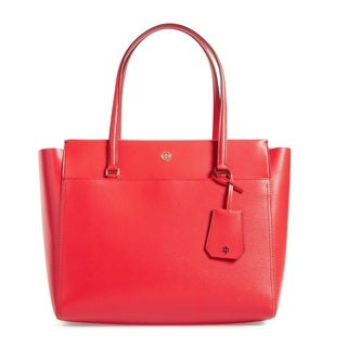 Tory Burch Parker Cherry Apple/Royal Navy Tote Bag
