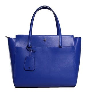 Tory Burch Parker Songbird Royal Navy Tote Bag
