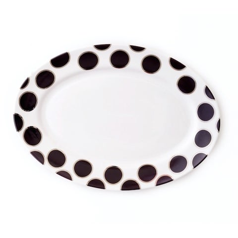 Darbie Angell Black Pearl Oval Serving Platter