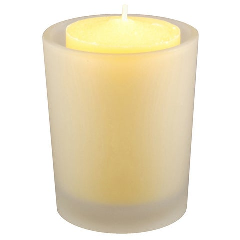 12 Citronella Candles in Frosted Glass Votives
