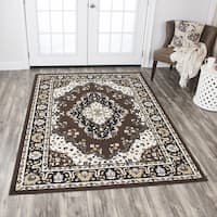 Rizzy Home Xcite Brown Central Medallion Area Rug - 8' x 10'