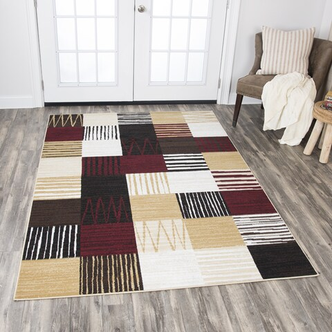 Rizzy Home Xcite Multicolor Patchwork Area Rug (8' x 10') - 8' x10'