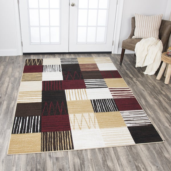 Rizzy Home Xcite Multicolor Patchwork Area Rug - 8' x 10'