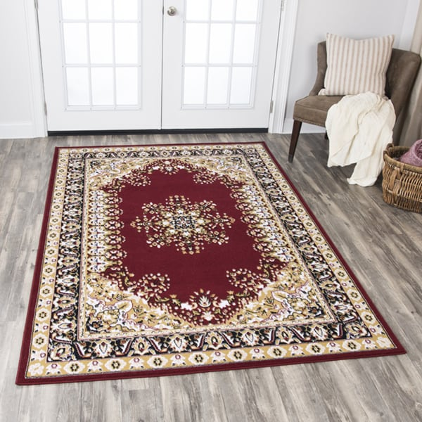 Rizzy Home Xcite Red Central Medallion Area Rug - 8'x10'