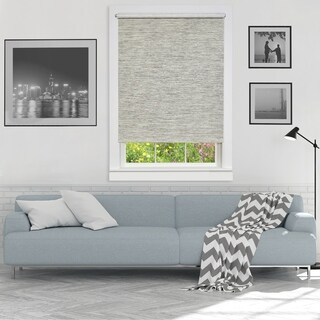 Cordless Privacy Jute Window Shade