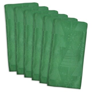Holiday Trees Green Cotton Blend Napkins (Set of 6)