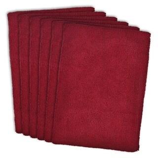 Red Microfiber Dishtowels (Set of 6)