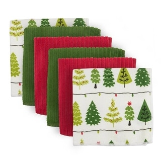 Holiday Microfiber Dishcloth (Pack of 6)