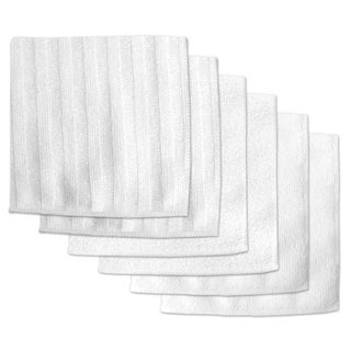 White Microfiber Scrub and Scour Polish Cloths (Pack of 6)