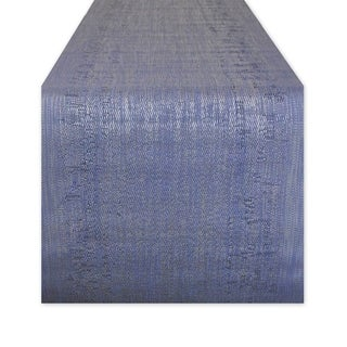 DII Blue 72-inch Space-dyed Table Runner