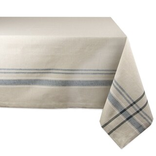 Blue French Stripe Tablecloth