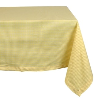 Delightful Yellow Check Tablecloth