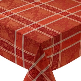 Pumpkin Vine Jacquard Tablecloth