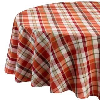Pumpkin Spice Plaid Tablecloth