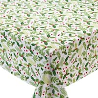 Boughs of Holly Printed Tablecloth