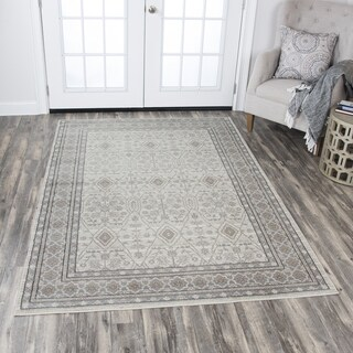Rizzy Home Panache Beige Motif Area Rug (7'10 x 10'10)