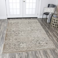 Rizzy Home Panache Beige/ Grey Medallion Area Rug - 7'10x10'10