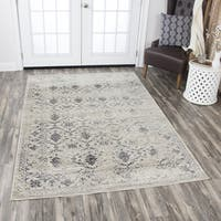 "Rizzy Home Panache Natural Medallion Floral Area Rug (3'3 x 5'3) - 3'3"" x 5'3"""