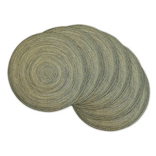 Grey Plastic Variegated Round Placemats (Pack of 6)