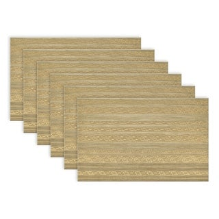 Metallic Basketweave Placemat (Set of 6)