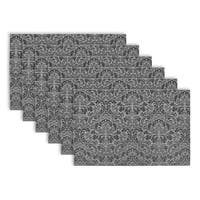Damask Vinyl Placemats (Set of 6)