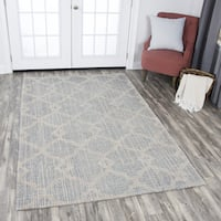 Rizzy Home Opulent Grey/Beige Wool Hand-tufted Area Rug (10' x 13') - 10' x 13'