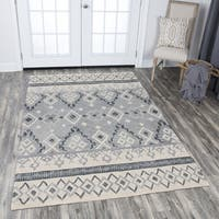Rizzy Home Hand-tufted Opulent Natural Wool Tribal Motif Area Rug (10' x 13') - 10' x 13'
