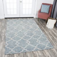 Rizzy Home Hand-tufted Opulent Grey Wool Geometric Area Rug - 10' x 13'