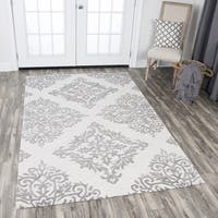 Rizzy Home Taupe Wool Hand-tufted Medallion Area Rug (10' x 13') - 10' x 13'