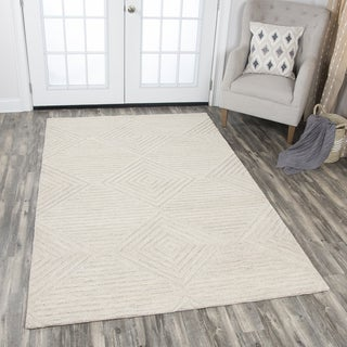 Rizzy Home Hand-tufted Idyllic Natural Wool Solid Area Rug (10' x 13')