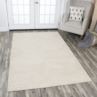 Rizzy Home Hand-tufted Idyllic Natural Wool Solid Area Rug - 10' x 13'