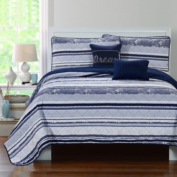 RT Designer Collection Blue Jean 5-piece Quilt Set